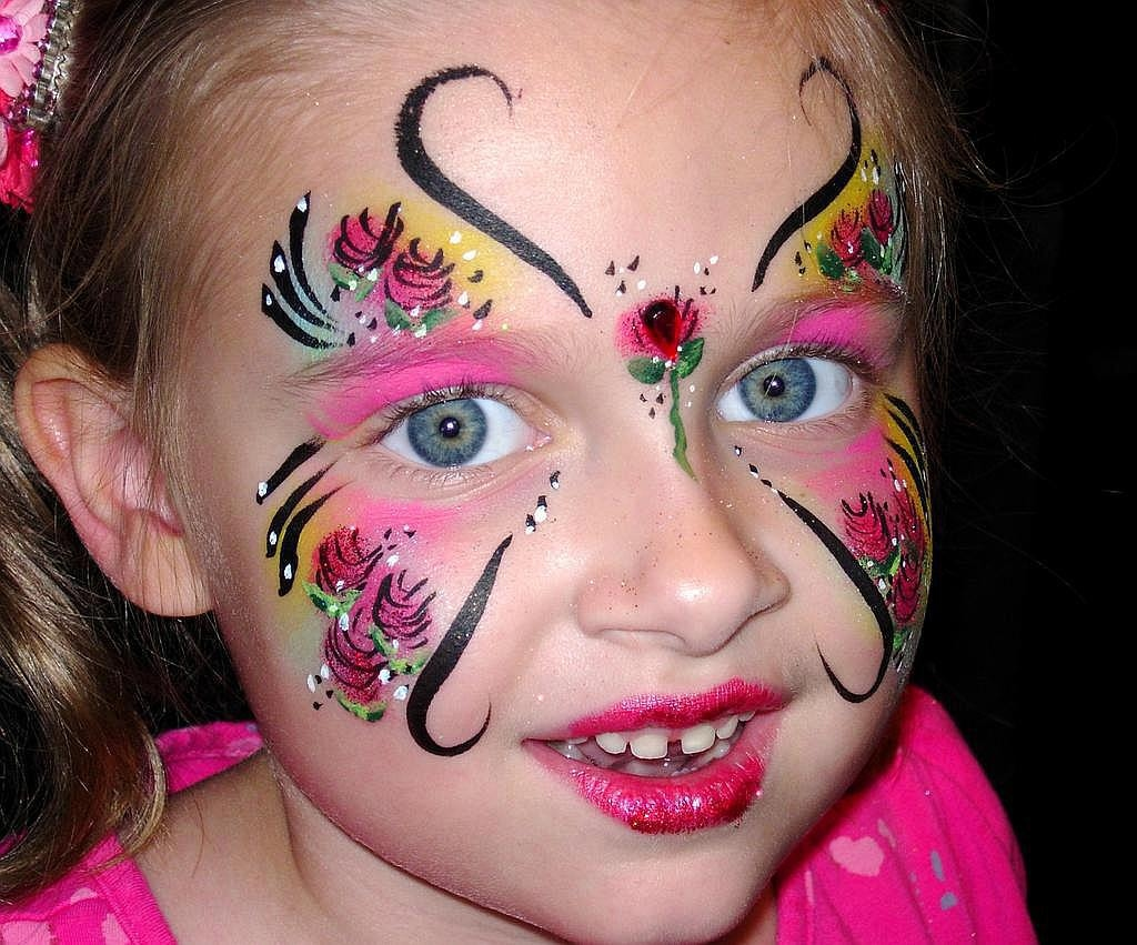 Butterfly Princess from Face Painting and Balloons